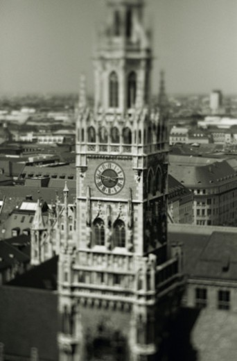 Neues Rathaus clocktower in Munich, Germany : Stock Photo