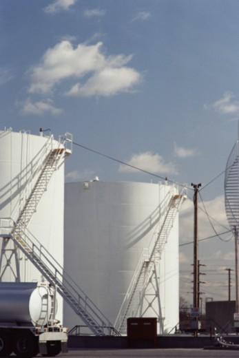 Oil storage tanks : Stock Photo