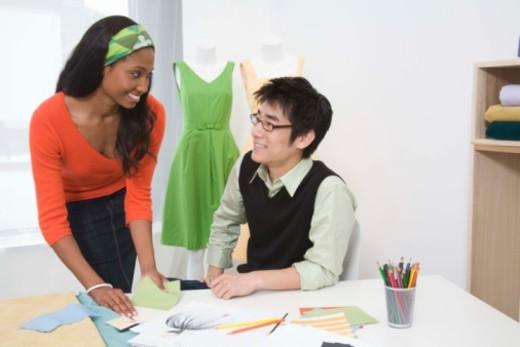 Fashion design team : Stock Photo