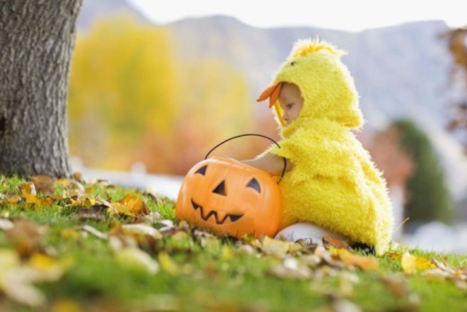 Toddler in Halloween costume : Stock Photo
