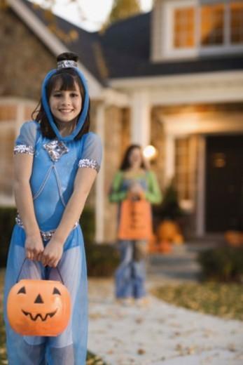 Stock Photo: 1555R-344509 Girl in Halloween costume