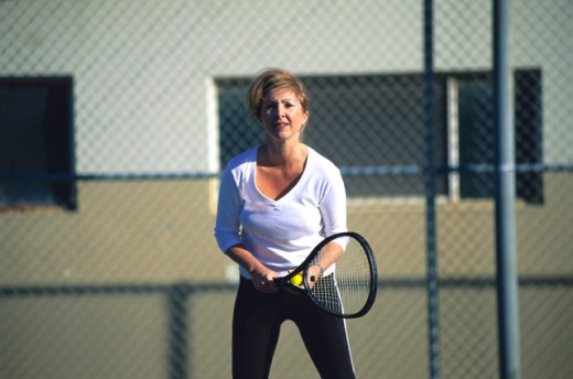 Woman tennis player : Stock Photo