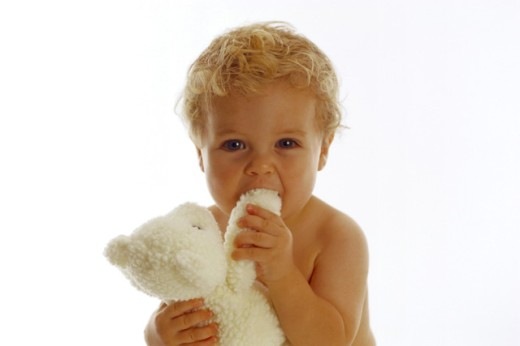 Stock Photo: 1555R-38039 Boy with a teddy bear