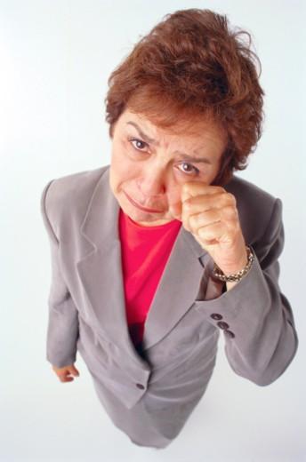 Crying woman : Stock Photo