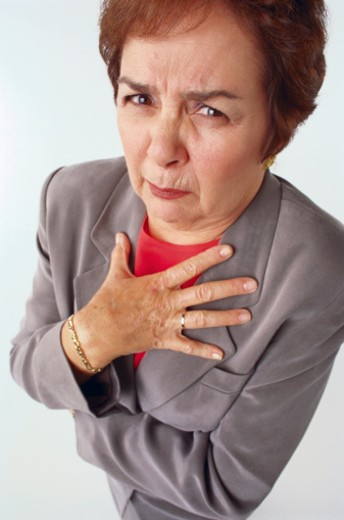 Disgusted woman : Stock Photo