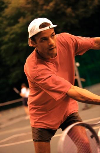 Stock Photo: 1555R-43072 Man playing tennis