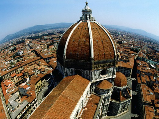 Stock Photo: 1555R-5008 Cathedral of Florence cityscape, Florence, Italy