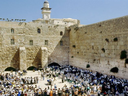 Stock Photo: 1555R-5015 Herod temple and wailing wall