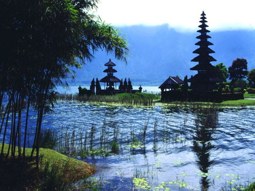 Water temple, Bali : Stock Photo