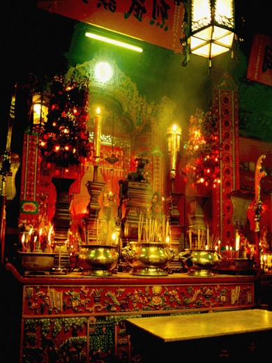 Stock Photo: 1555R-5056 Buddhist temple, China