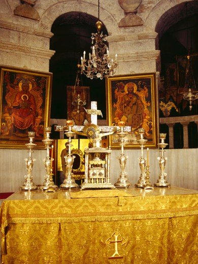 Stock Photo: 1555R-5090 Russian Orthodox church altar