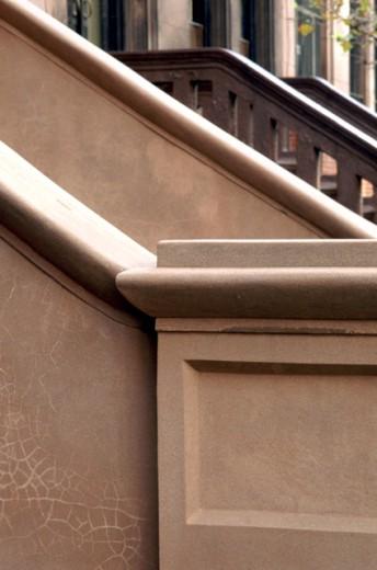 Stock Photo: 1555R-62004 Brownstone exterior