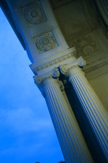 Low angle view of column : Stock Photo