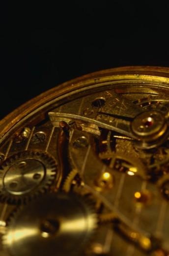 Stock Photo: 1555R-67053 Clock mechanism