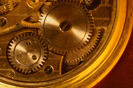 Clock mechanism : Stock Photo