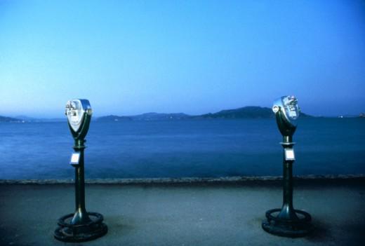 Stock Photo: 1555R-68053 Viewfinders by ocean
