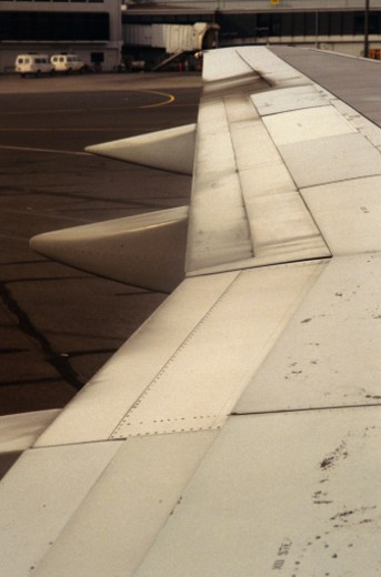 Stock Photo: 1555R-69028 Airplane wing