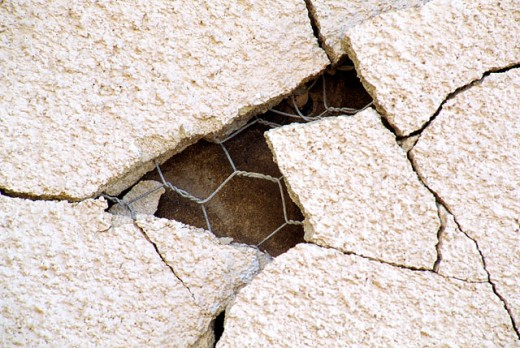 Cracked concrete : Stock Photo
