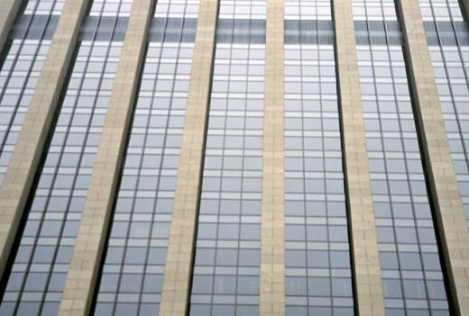 Skyscraper with glass windows : Stock Photo