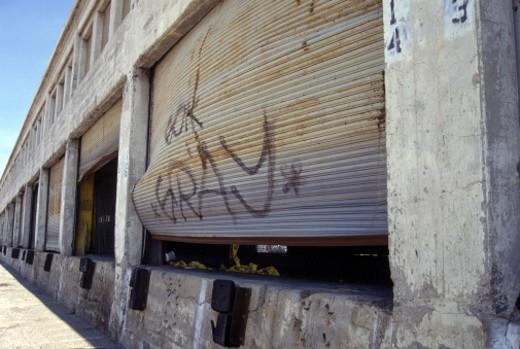 Stock Photo: 1555R-97086 Deserted warehouse