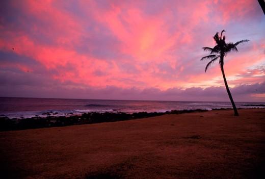 Stock Photo: 1555R-98041 Hawaii sunrise