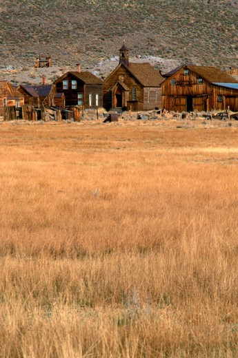 Stock Photo: 1555R-98058 Bodie ghost town, California