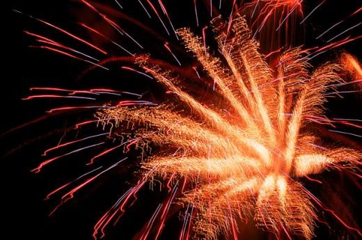 Exploding fireworks : Stock Photo