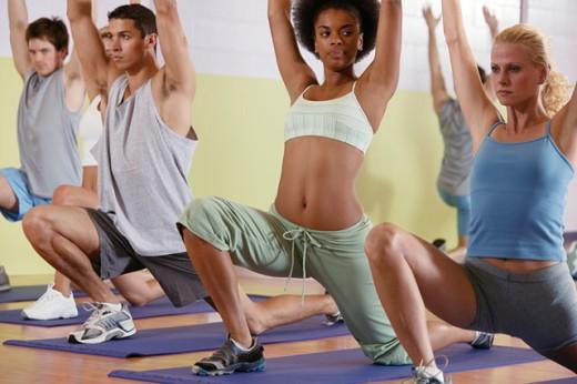People in yoga class : Stock Photo