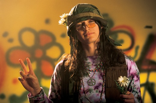Stock Photo: 1557R-02041 Male hippie