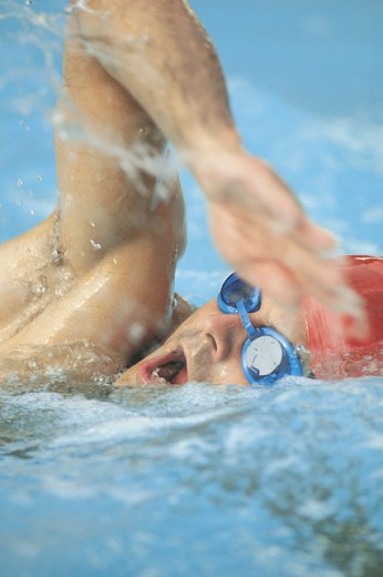 Man swimming : Stock Photo