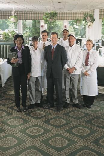 Restaurant staff : Stock Photo