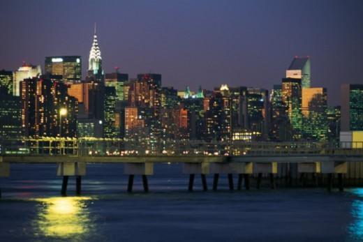 Manhattan skyline , New York City , USA : Stock Photo