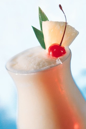 Frothy tropical drink : Stock Photo
