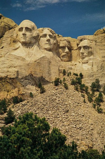Stock Photo: 1557R-0341 Mt. Rushmore , South Dakota , USA
