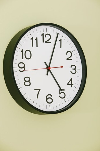 Stock Photo: 1557R-04481 Clock on wall