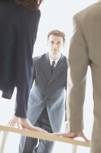 Stock Photo: 1557R-0504 Businessman in meeting