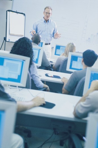 Computer training course : Stock Photo
