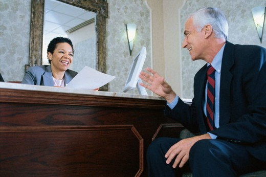 Businesspeople talking : Stock Photo