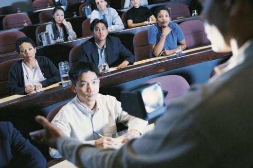 People in auditorium : Stock Photo