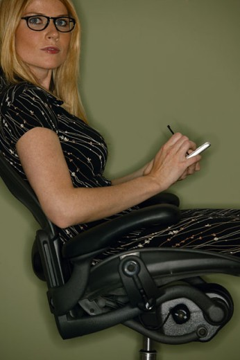 Woman sitting : Stock Photo