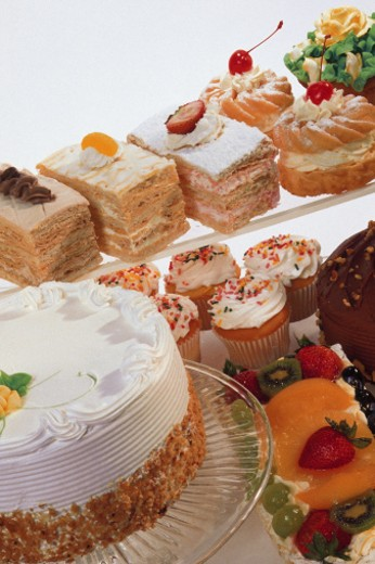 Assorted pastries and desserts : Stock Photo