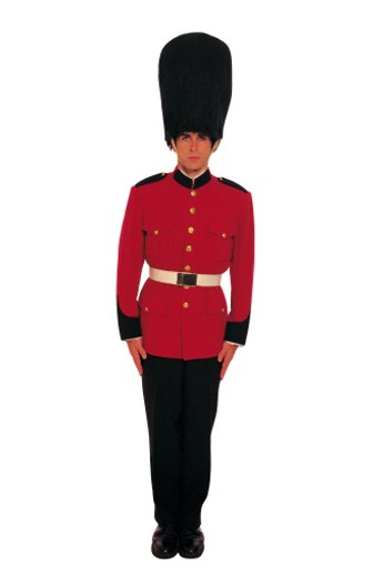 Man in uniform of British Royal guard : Stock Photo