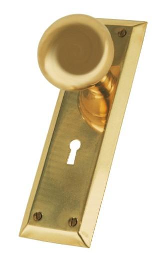 Brass door knob : Stock Photo