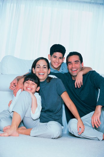 Stock Photo: 1557R-241083 Happy family portrait