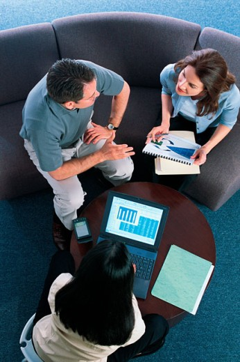Stock Photo: 1557R-276175 Businesspeople in meeting