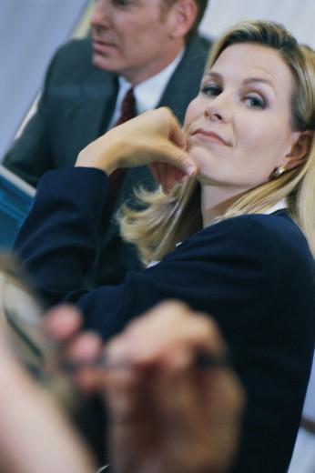 Businesswoman in meeting : Stock Photo