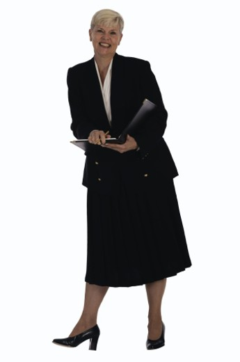 Businesswoman with folder : Stock Photo
