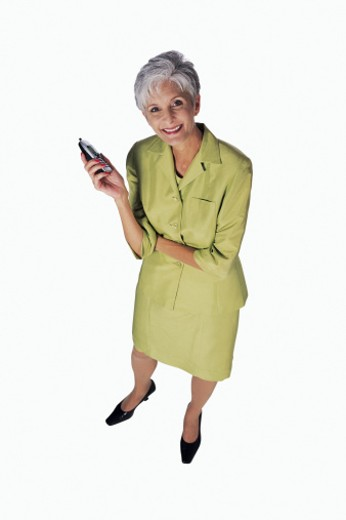 Woman with cell phone : Stock Photo