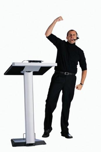 Stock Photo: 1557R-276955 Public speaker