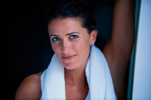 Stock Photo: 1557R-277017 Woman with a towel